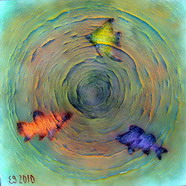 Fishes / Рыбы  / 2010  /  Acril on canvas / 100х100см
