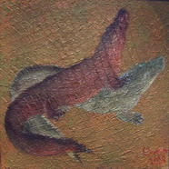 Alligators playing /  Игры аллигаторов / 2008 / Acril on canvas /120х100см